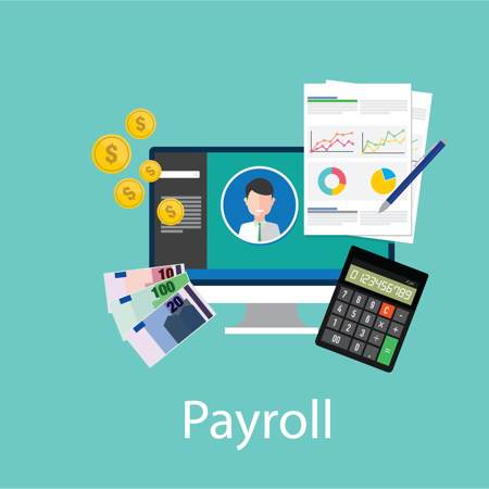 Vector of payroll concept