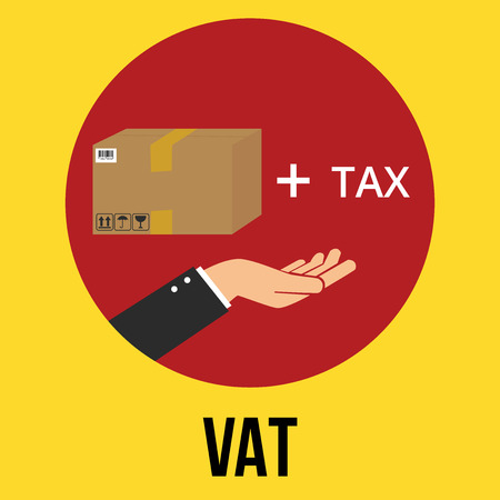 52128132 - vat value added tax illustration goods plus tax and customer vector