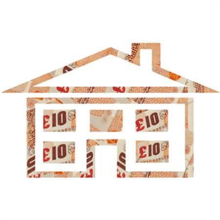 Money house £10 bills