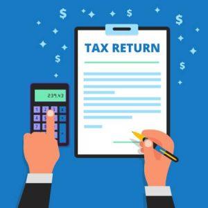 Filing a tax return image