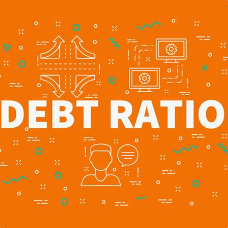 Debt ratio concept image