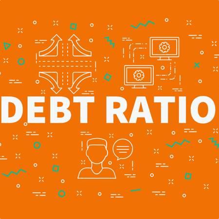 Debt ratio concept image