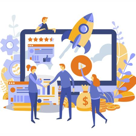 Successful start-up concept image