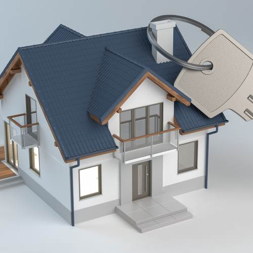 Accountants for landlords - 3D illustration of house with key