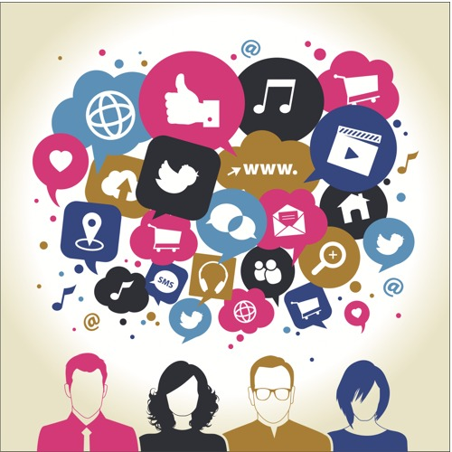A concept image of web and social media