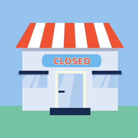 A concept image of business that is closed due to COVID-19